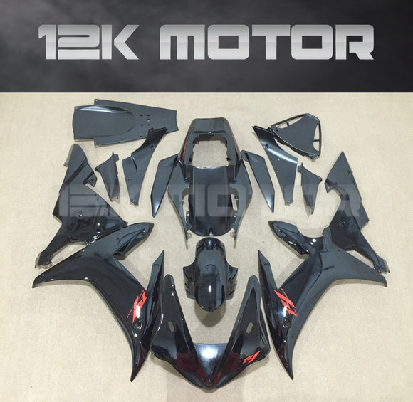 Black Design Fairing For Yamaha R1 2002 2003 Aftermarket Fairing Kit