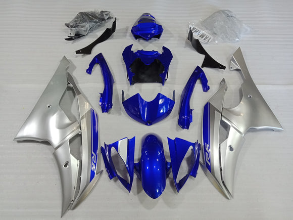 ---AU STOCKING--- Blue Silver Fairing Kit For Yamaha YZF-R6 R6 2008-2016 With Tank Cover Rear Seat Cowl
