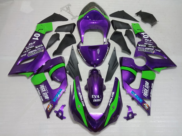 ---AUSTOCKING---Purple Fairing Kit For Kawasaki ZX-6R 2005 2006