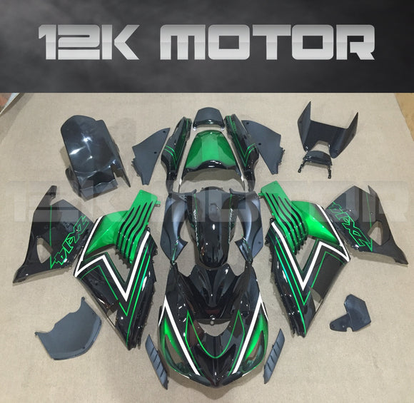 Green Black Aftermarket Fairing Kit Fit KAWASAKI 2006 - 2011 ZX-14R