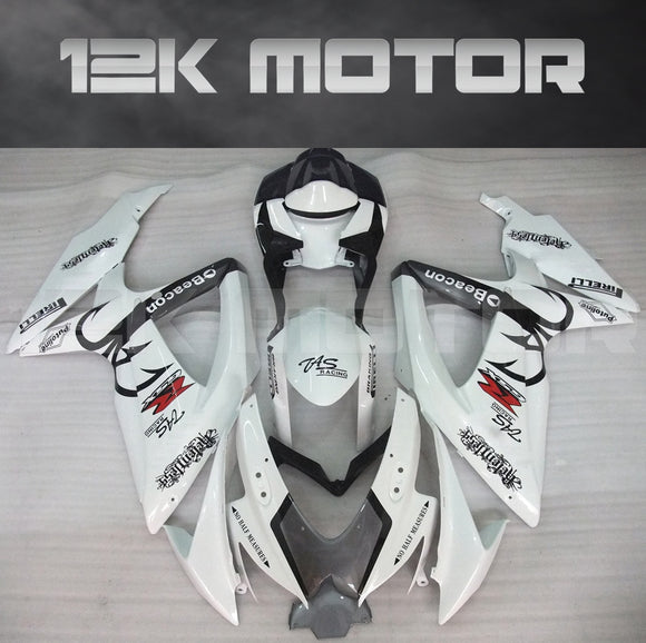 White Custom Fairing Fit for SUZUKI GSXR 600/750 2008-2010 Aftermarket Fairing Kit