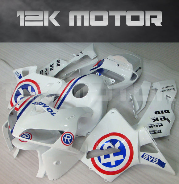 Repsol White Fairing Kit Sets Fit for HONDA CBR600RR 2005 2006 Aftermarket Fairing Kit