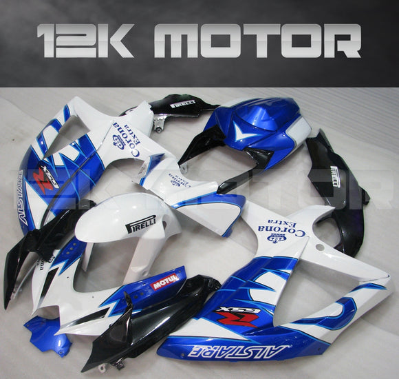 Blue White Color Fairing Fit for SUZUKI GSXR 600/750 2008-2010 Aftermarket Fairing Kit