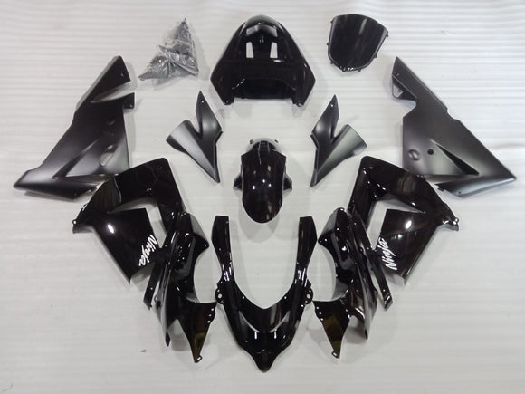---AU STOCKING---Black Fairing Kit For KAWASAKI ZX10R 2004 2005
