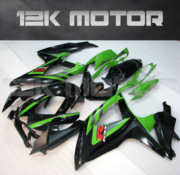 Black Green Fairing Fit for SUZUKI GSXR 600/750 2008-2010 Aftermarket Fairing Kit