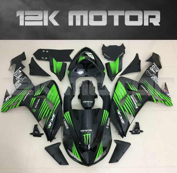 Green and Black Fairing kit fit 2006 to 2007 ZX-10R