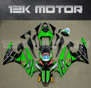ZX6R Fairing Kit for Kawasaki ZX6R Fairings 2009 to 2012 Green Black Fairing set 2