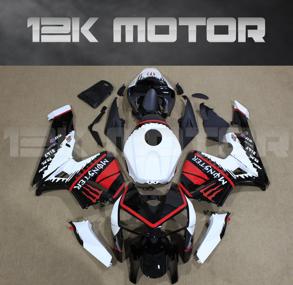 Black White Red Fairing Kit Fit for HONDA CBR600RR F5 2003 2004 Aftermarket Fairing Kit