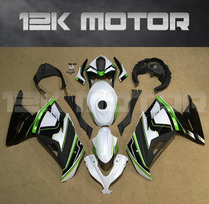 Ninja 300 2013 - 2017 Black White Green Fairing kit set