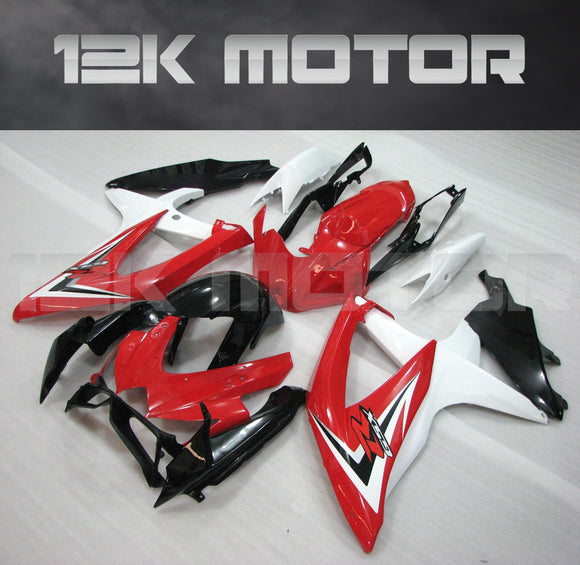 Red White Fairing Fit for SUZUKI GSXR 600/750 2008-2010 Aftermarket Fairing Kit