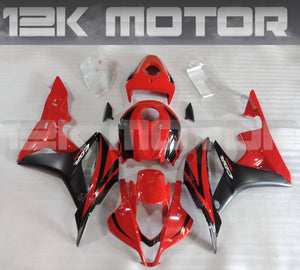 Black and Red Honda Fairings Fit CBR600RR Fairings 2007 2008