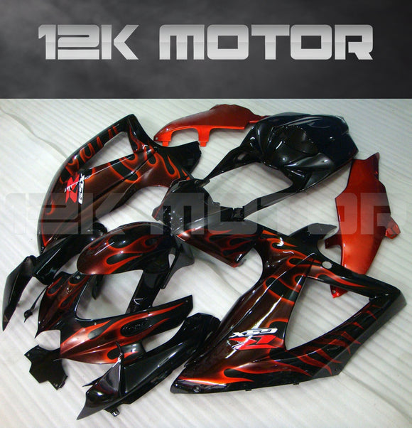 Red Flame Fairing Fit for SUZUKI GSXR 600/750 2008-2010 Aftermarket Fairing Kit