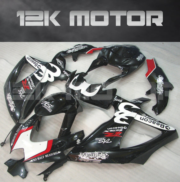 Black Yoshimura Fairing Fit for SUZUKI GSXR 600/750 2008-2010 Aftermarket Fairing Kit