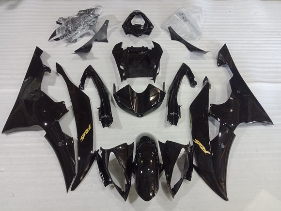 ---AU STOCKING--- Gloss Black Fairing Kit For Yamaha YZF-R6 R6 2008-2016