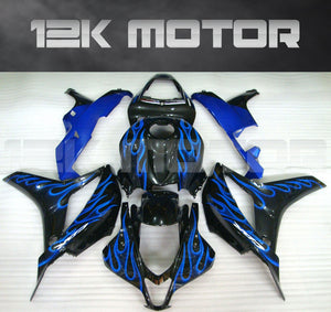 Black with Blue Flame Fairing Fit for HONDA CBR600RR 2007 2008 Aftermarket Fairing Kit