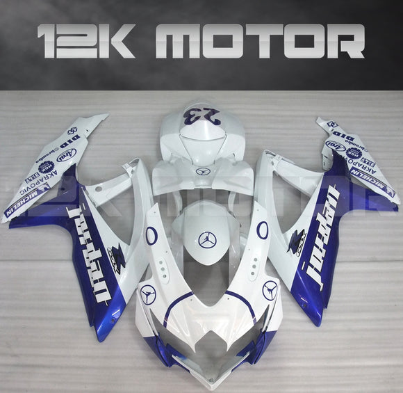 Blue White Jordan Fairing Fit for SUZUKI GSXR 600/750 2008-2010 Aftermarket Fairing Kit