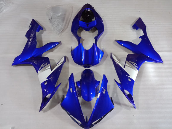 ---AU STOCKING---Blue White Fairing Kit For Yamaha R1 2004 2005 2006