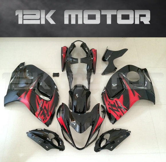 SUZUKI Hayabusa GSX1300R 2008-2018 Black and Red Fairing