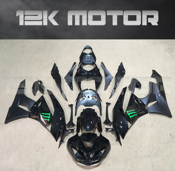 ZX6R Fairing Kit for Kawasaki ZX6R Fairings 2009 to 2012 Black Monster Fairings