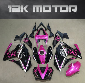Aftermarket R3 Fairings For Yamaha YZF-R3 motorcycle Pink Black fairing 2015 2016 2017