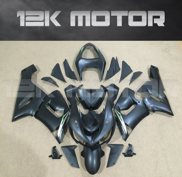 Matt Black Aftermarket Fairing Kit fit 2005 to 2006 ZX-6R