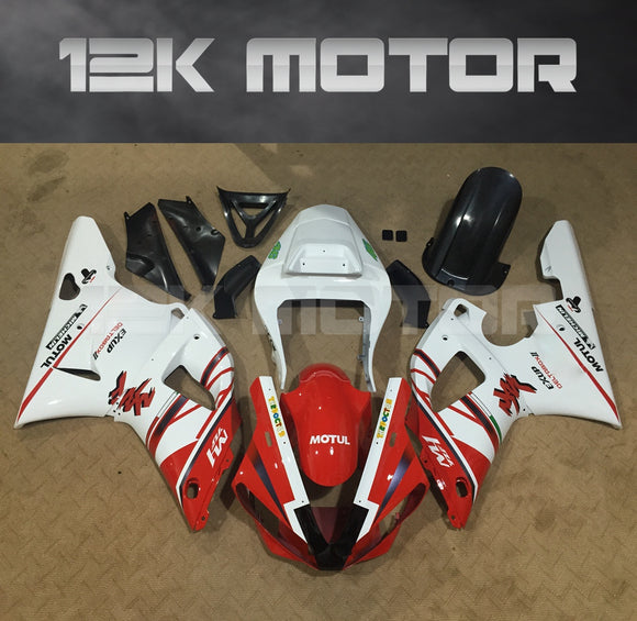 Red White Color Fairing For Yamaha R1 2000 2001 Aftermarket Fairing Kit