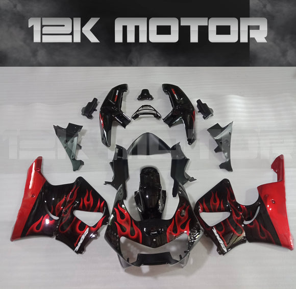 Red Flame Fairing Fit for HONDA CBR900RR 1998 1999 Aftermarket Fairing Kit