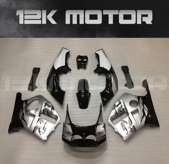 Black Silver Fairing Fit For HONDA CBR250RR MC19  1988 1989 Aftermarket Fairing Kit