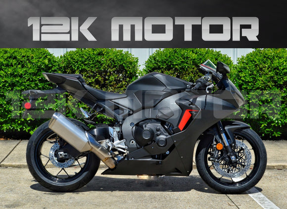 HONDA CBR1000RRA 2017 2018 2019 Matt Black Fairing Kit