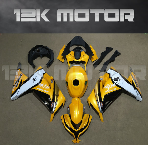Ninja 300 2013 - 2017 Yellow Fairing Kit Set