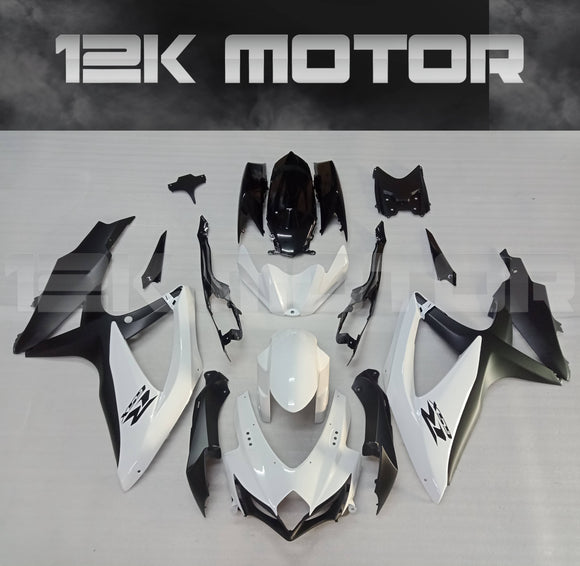 Black White Fairing Kit for SUZUKI 2008 2009 2010 GSXR600 GSXR 750