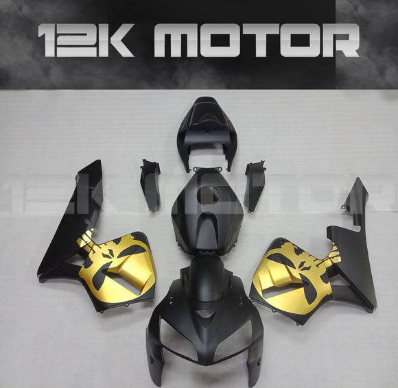 Gold Black Black Fairing Kit For HONDA CBR600RR 2005 2006