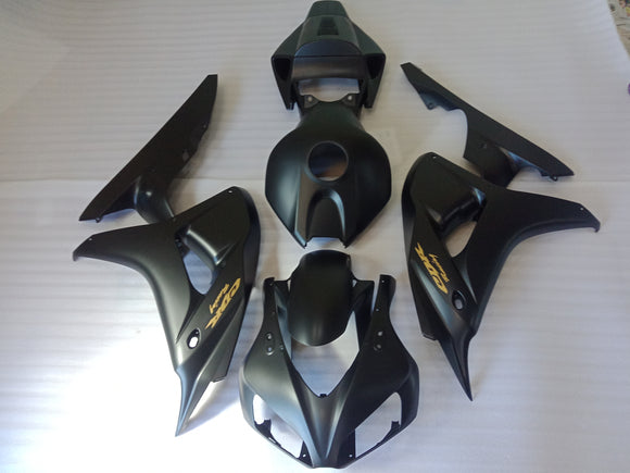 ---AU STOCKING---Black with Gold Fairing Kit for Honda CBR1000RR 2006 2007