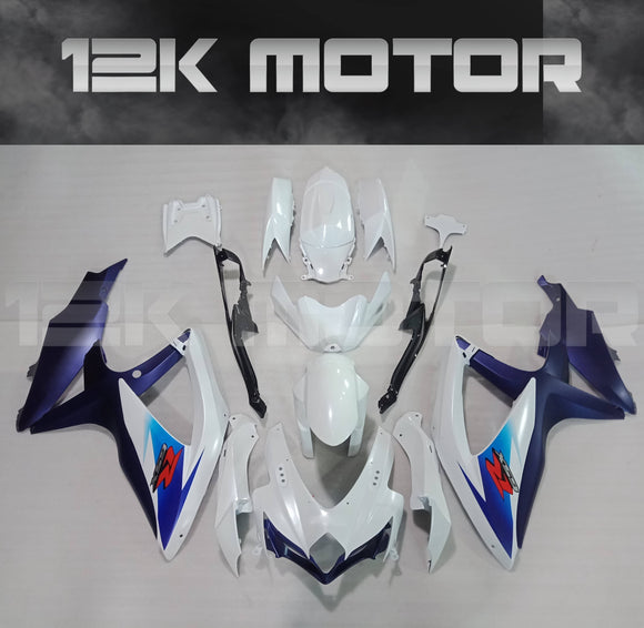 Original Blue White Design Fairing Kit for SUZUKI 2008 2009 2010 GSXR600 GSXR 750