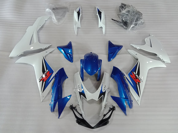 Blue White Fairing Kit For Suzuki GSXR GSX-R 600 750 2011 - 2020