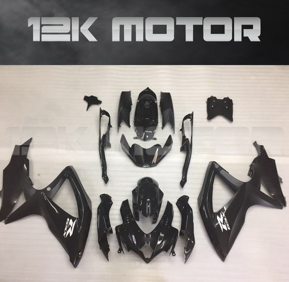 Matt Black White Stickers Fairing Fit for SUZUKI GSXR 600/750 2008-2010 Aftermarket Fairing Kit