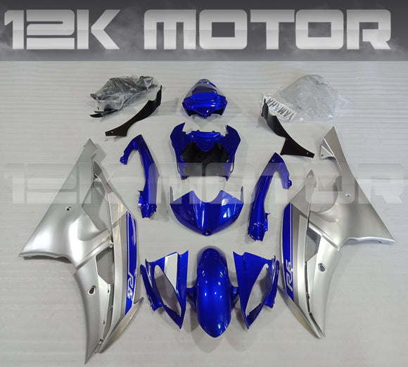 Blue Silver Fairing fit for Yamaha R6 2008-2016 Aftermarket Fairing Kits
