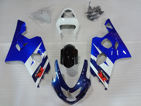 ---AU STOCKING---Black White Fairing Kit For Suzuki GSX-R 600 GSX-R 750 2004 2005