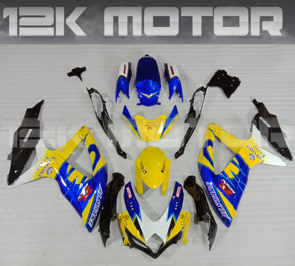 Yellow Corona Fairing Kit for SUZUKI 2008 2009 2010 GSXR600 GSXR 750