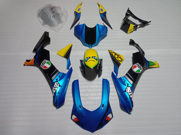 ---AU STOCKING---Fit Yamaha YZF-R1 R1 2015 - 2019 Shark Fairing Kit