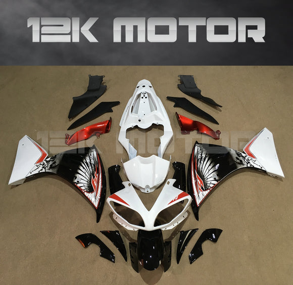 Fairing White Red Design for Yamaha R1 2009-2012 Aftermarket Fairing kits