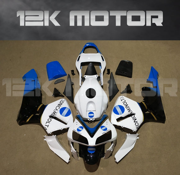White Blue Fairing Fit for HONDA CBR600RR F5 2003 2004 Aftermarket Fairing Kit