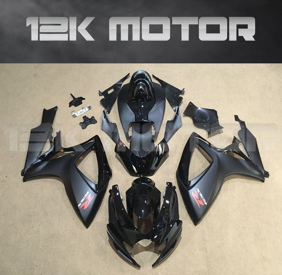 Matt Black Fairing Fit For SUZUKI GSXR 600/750 2006 2007 Aftermarket Fairing Kit