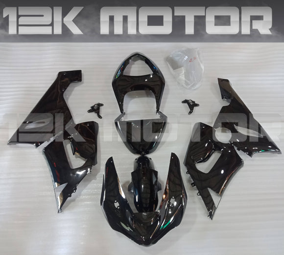 For KAWASAKI ZX6R Black Fairing Kit 2005 2006