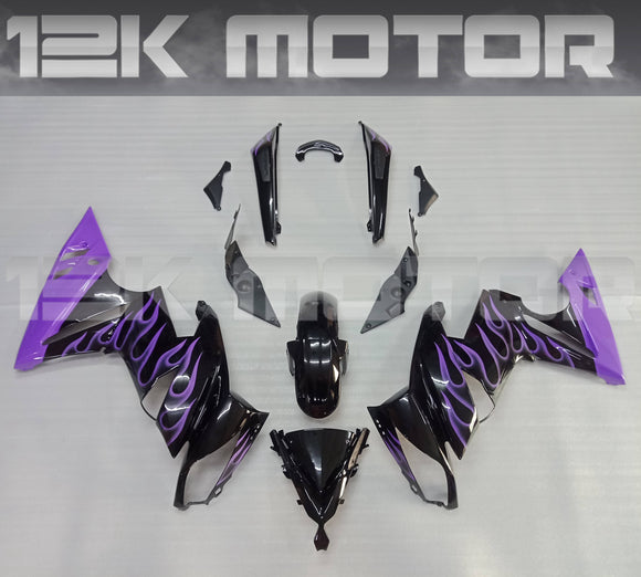 Custom Purple Fairing Kit For KAWASAKI Ninja 650R EX650C 2009 2010 2011 2012