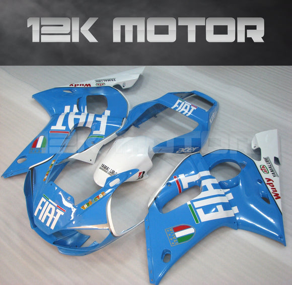 Blue FIAT aftermarket Fairing fit for Yamaha R6 1998-2002