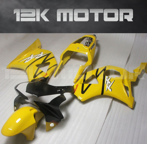 Black and Yellow Fairing fit for HONDA CBR954RR 2002 2003 Aftermarket Fairing Kit