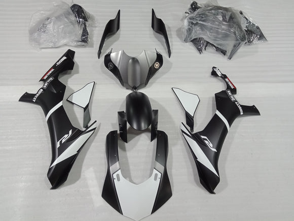 ---AU STOCKING---Matt Black White Fairing Kit For Yamaha R1 2015-2019