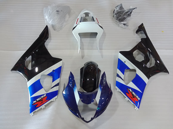 ---AU STOCKING---Blue Black Fairing Kit For Suzuki GSXR GSX-R 1000 2003 2004