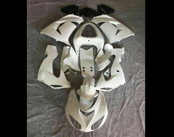 ---AUSTOCKING---Fit Kawasaki ZX-10R 2006 2007 Plain White Fairing Kit